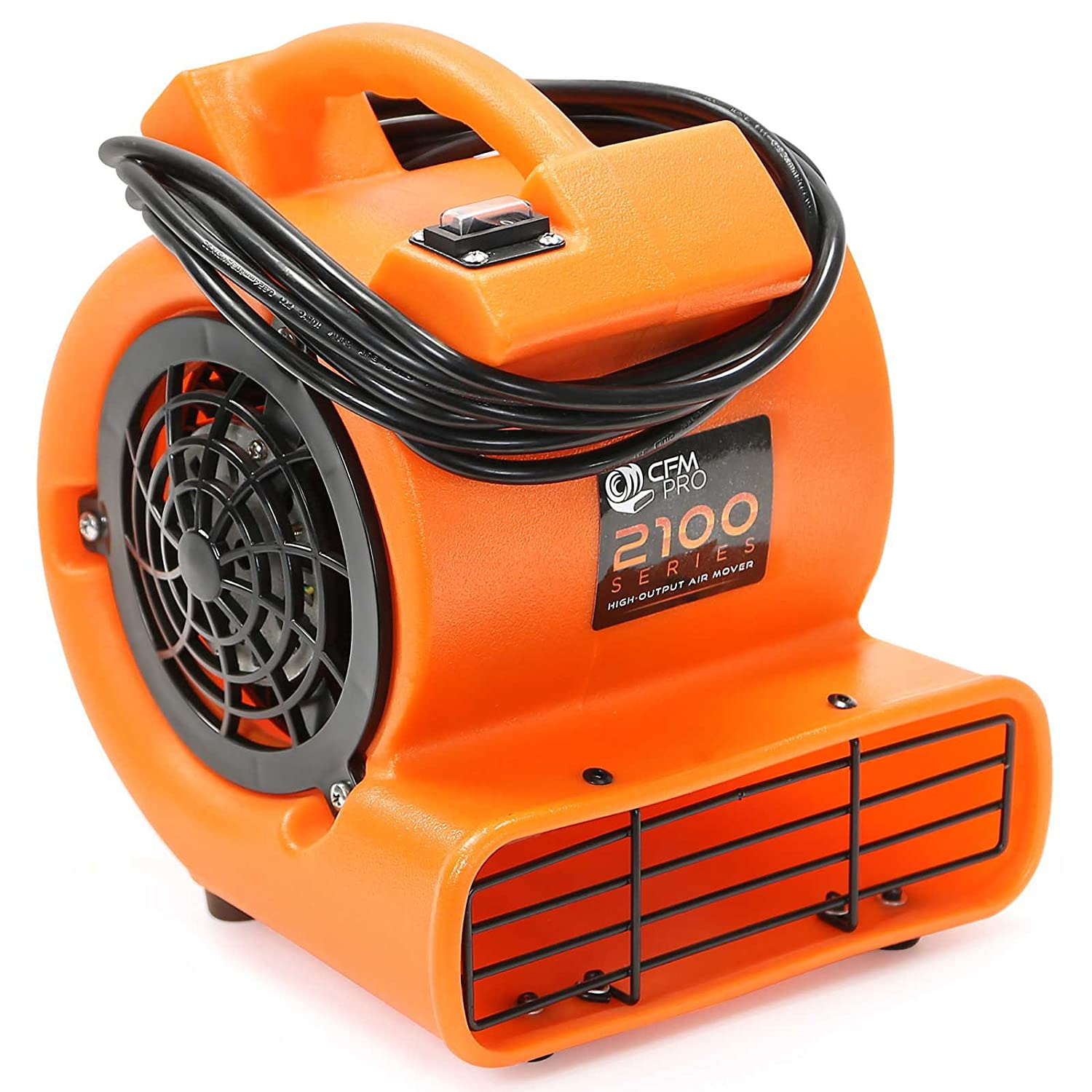 CFM Pro Mini Air Mover Carpet Floor Dryer 1 12 HP Blower Fan Orange Water Flood Damage Restoration