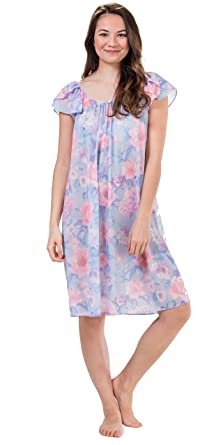b7c9780fe4ef Miss Elaine Short Flutter Sleeve Tricot Nightgown in Spring Garden (Floral  Print