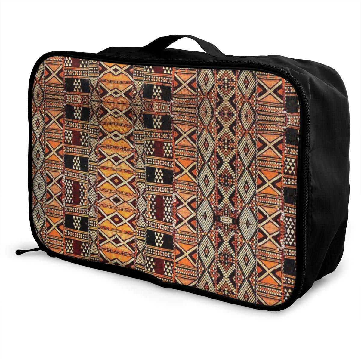 Portable Luggage Duffel Bag Tribal Design Travel Bags Carry-on In Trolley Handle
