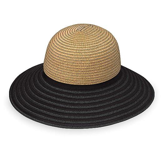 e955f4b6426 Wallaroo Hat Company Hat Company Women s Riviera Hat - Camel Black - Broad  Brim at Amazon Women s Clothing store