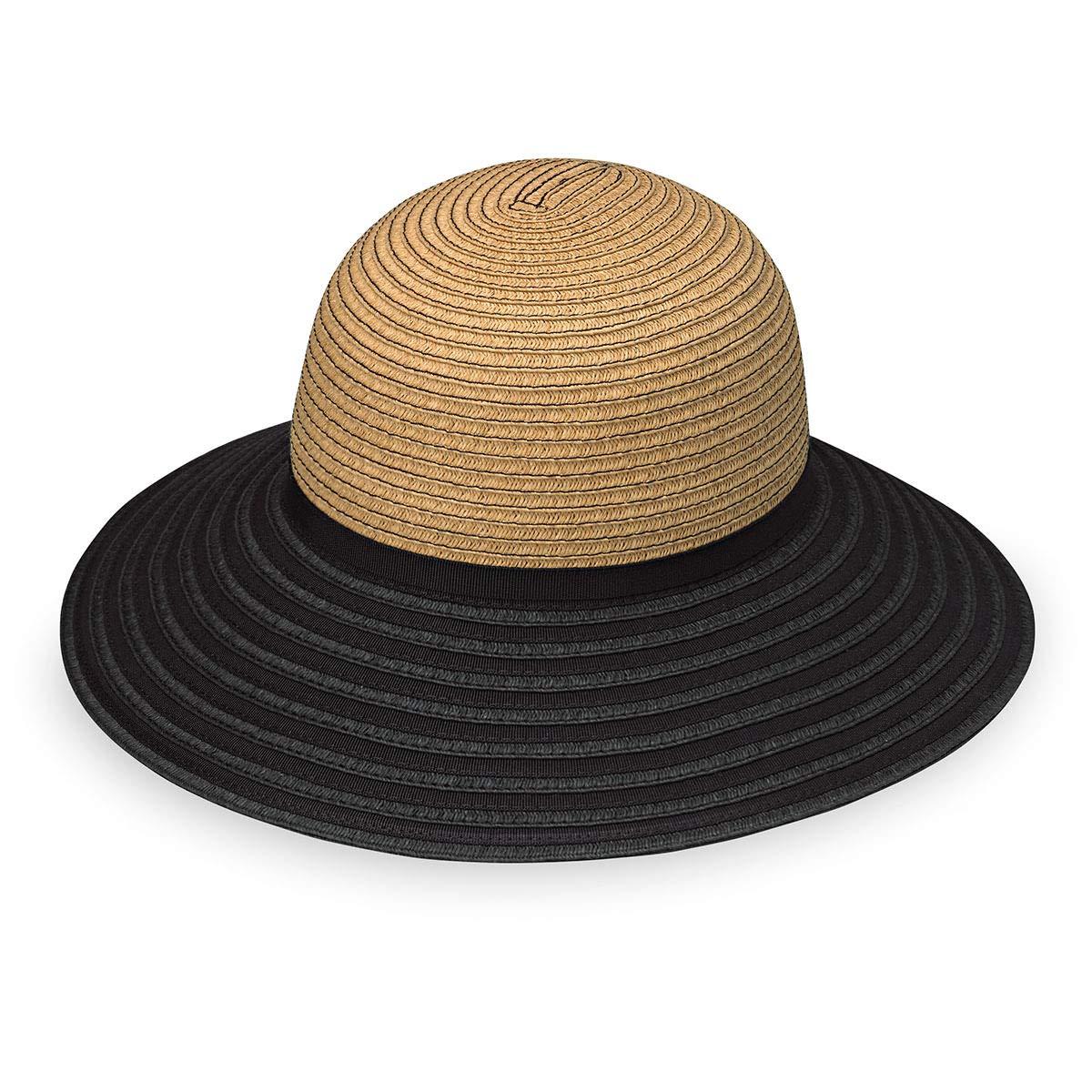 Wallaroo Hat Company Hat Company Women's Riviera Hat - Camel/Black - Broad Brim
