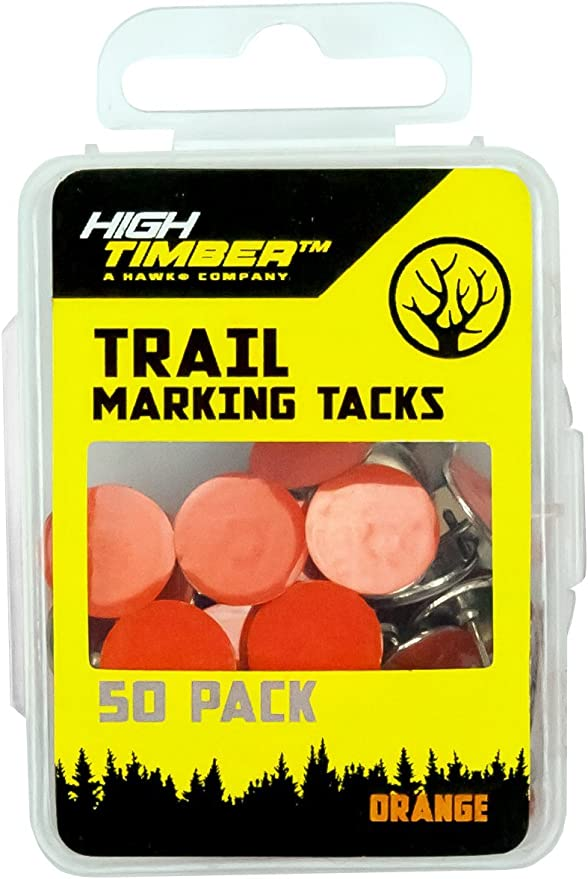 Orange Pack of 12 NIKA ARCHERY Trail Markers with Clips Reflective Tack Night-n-Day