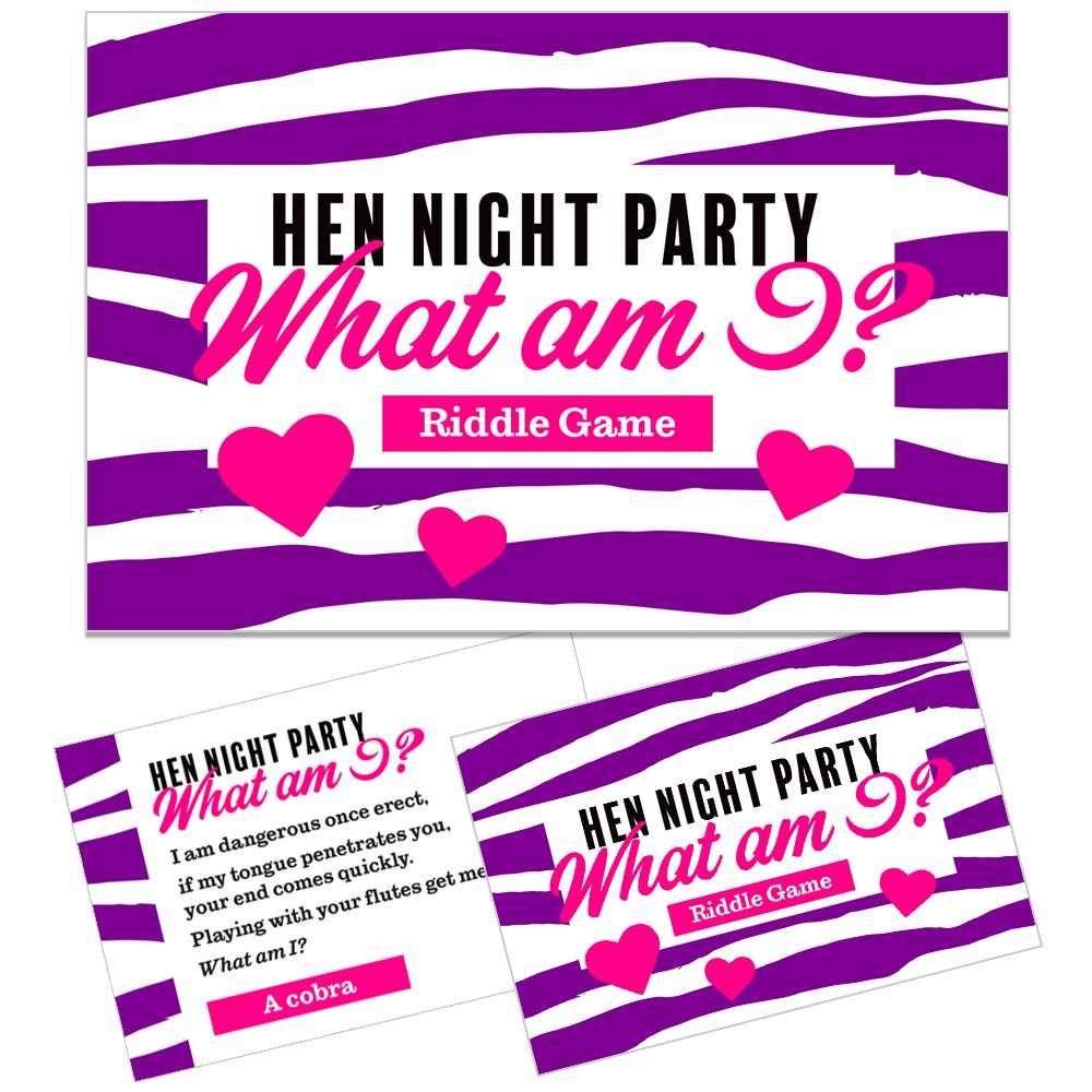 HEN PARTY GAME - Innuendo card game / What am I? (Pack of 20) The ...
