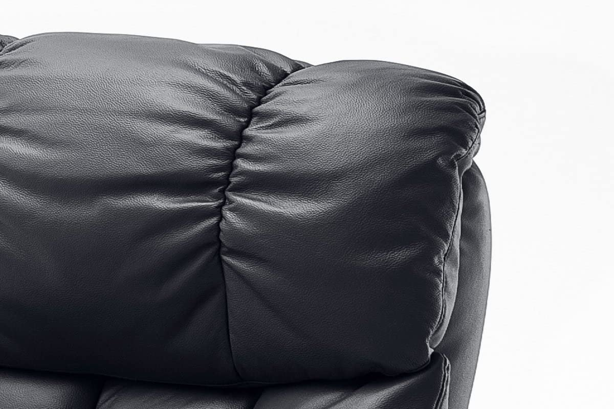 Robas Lund Calgary XXL Fauteuil de Relaxation Nougat 92 x 97 x 110 cm Cuir