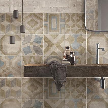 wall art (Confezione 72 Pezzi) adesivi per piastrelle formato 10x10 ...
