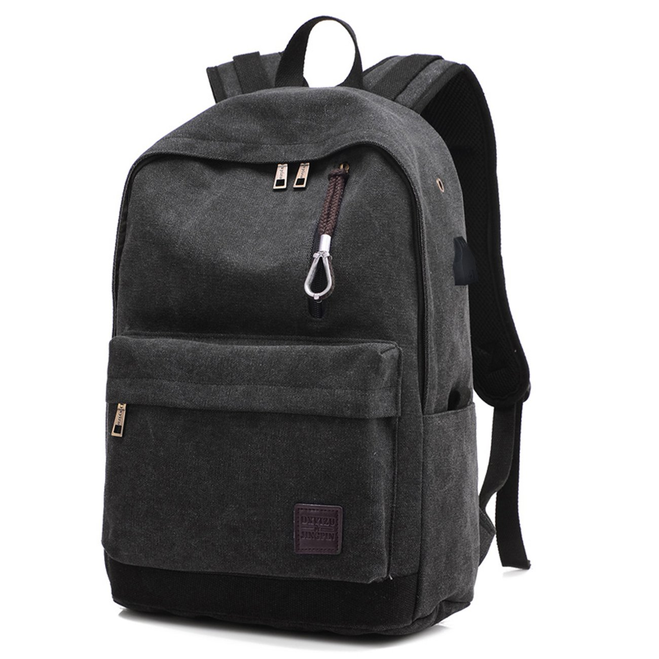 eb9541eb9e Backpack Canvas Men Male Backpacks Hoperay College Student School Bags for  Teenagers Vintage Mochila Casual Travel Daypack Laptop Backpacks with USB  ...