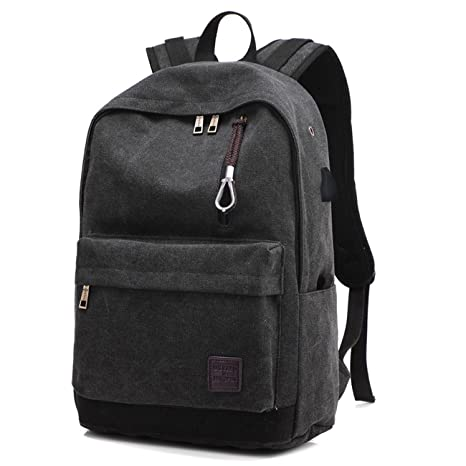 Backpack Canvas Men Male Backpacks Hoperay College Student School Bags for  Teenagers Vintage Mochila Casual Travel dc419f1322f0b