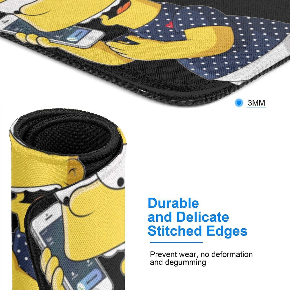 Simpsons Stylish Printing Design is Durable and Green Mouse Pad The