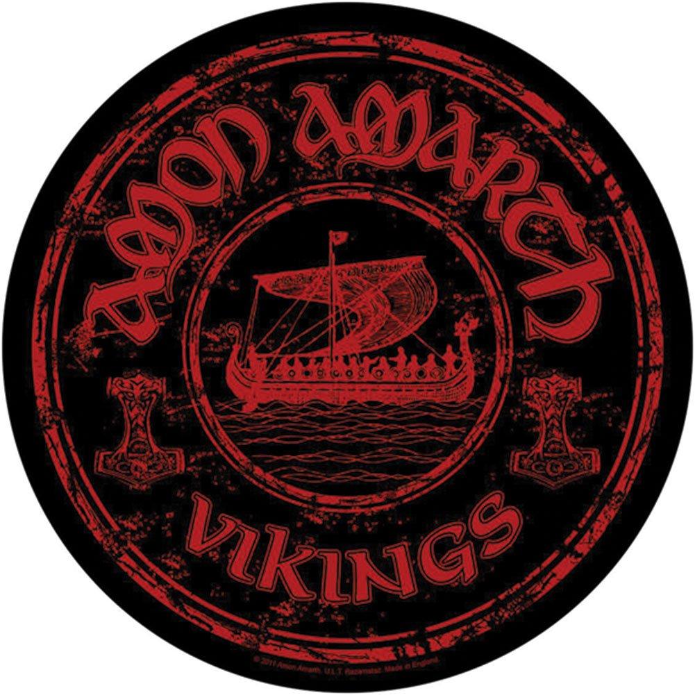 Amon Amarth Men's Vikings Back Patch Black RAZAMATAZ