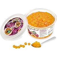 Popping Boba för bubbelté - Fruktpärlor, exploderande bubblor - 450 gram - passionsfrukt - INGA konstgjorda färger…