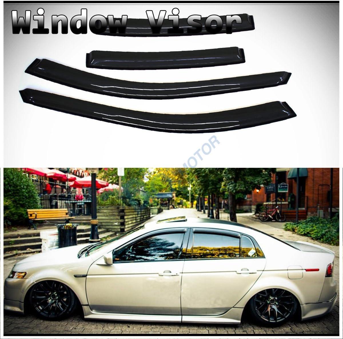 JDM In-Channel Style Side Window Visors Deflectors Rain Guard For 04-08 Acura TL