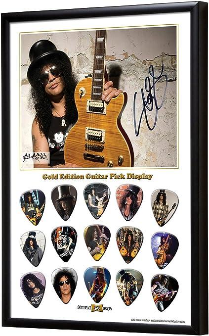 Slash limitado a 50 con oro 15 púas pantalla de púa de guitarra: Amazon.es: Instrumentos musicales