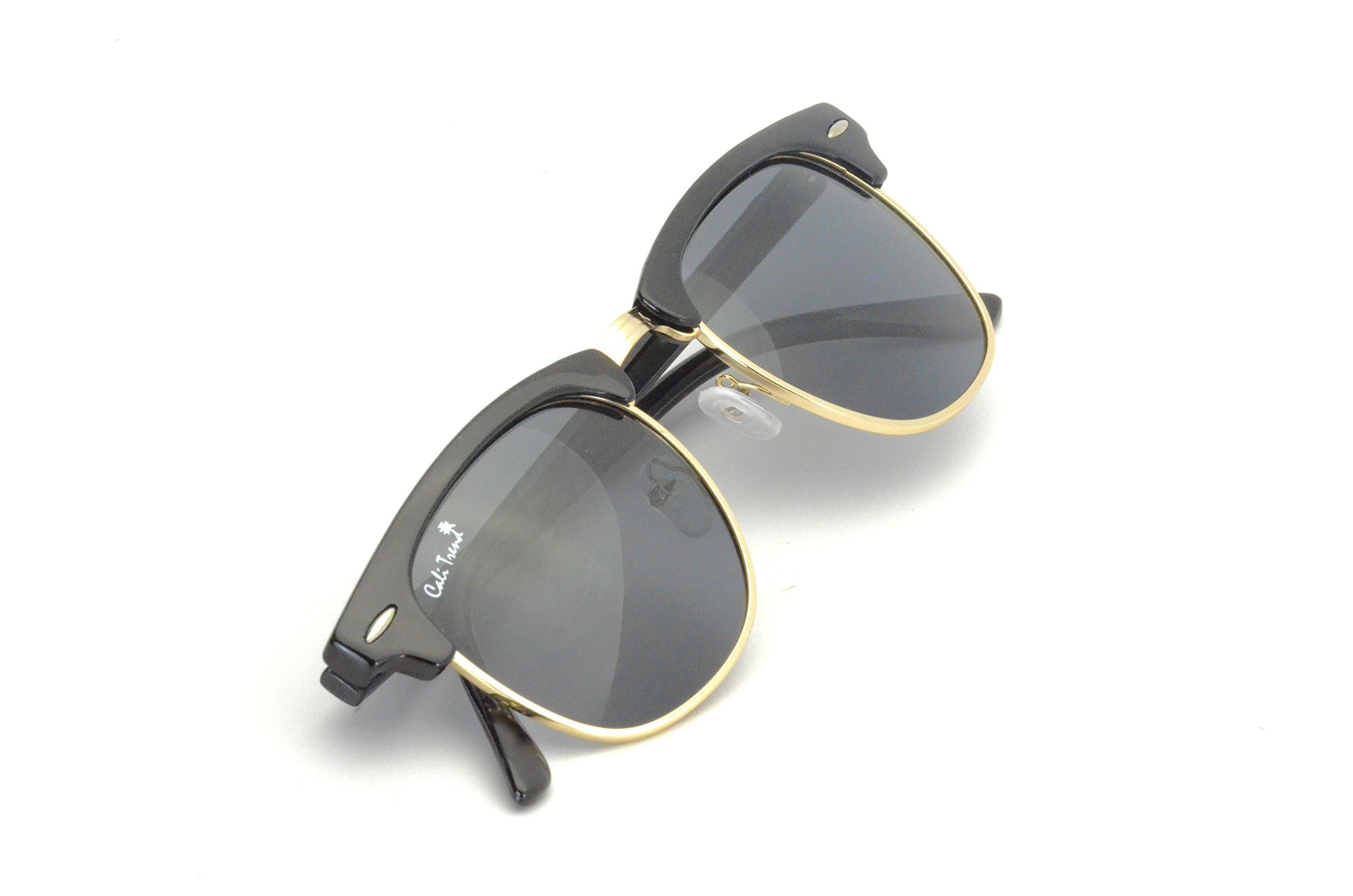 Polarized Half Frame Sunglasses - Clubmaster Style - Cool, Comfortable California Shades by Cali Trend