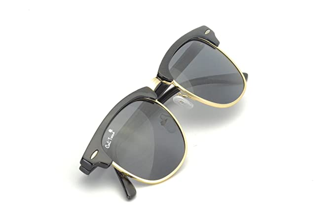 efb983cdf83 Amazon.com  Polarized Half Frame Sunglasses - Clubmaster Style ...
