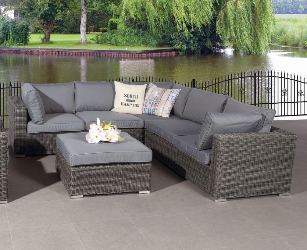 Poly Rattan Lounge Rubinia Earl Grey mit absolut wetterfesten Kissen, Easy Does It, Garden Impressions