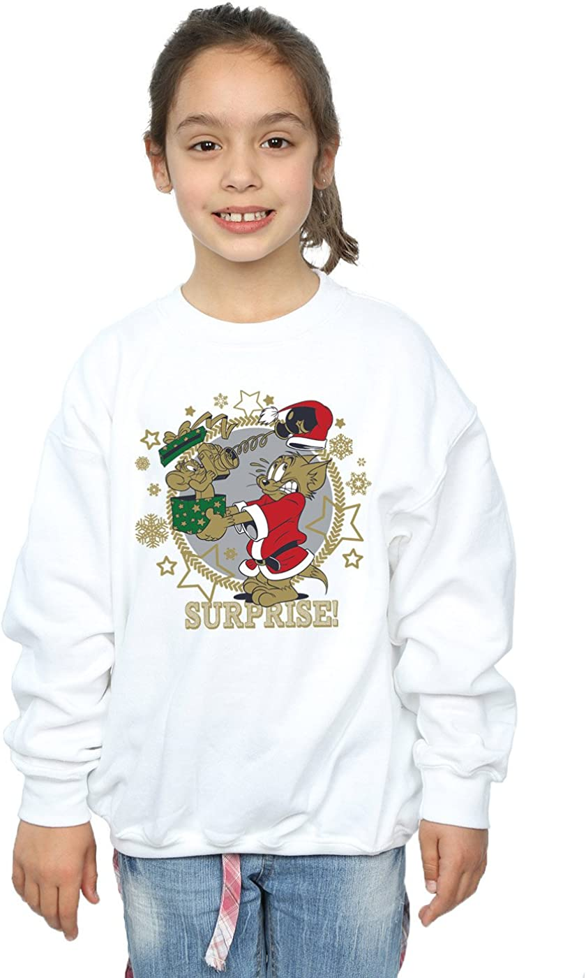 TOM and JERRY Girls Christmas Surprise Sweatshirt