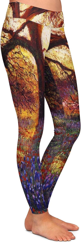 Athletic Yoga Leggings from DiaNoche Designs by David Lloyd Glover Wildflower Meadow