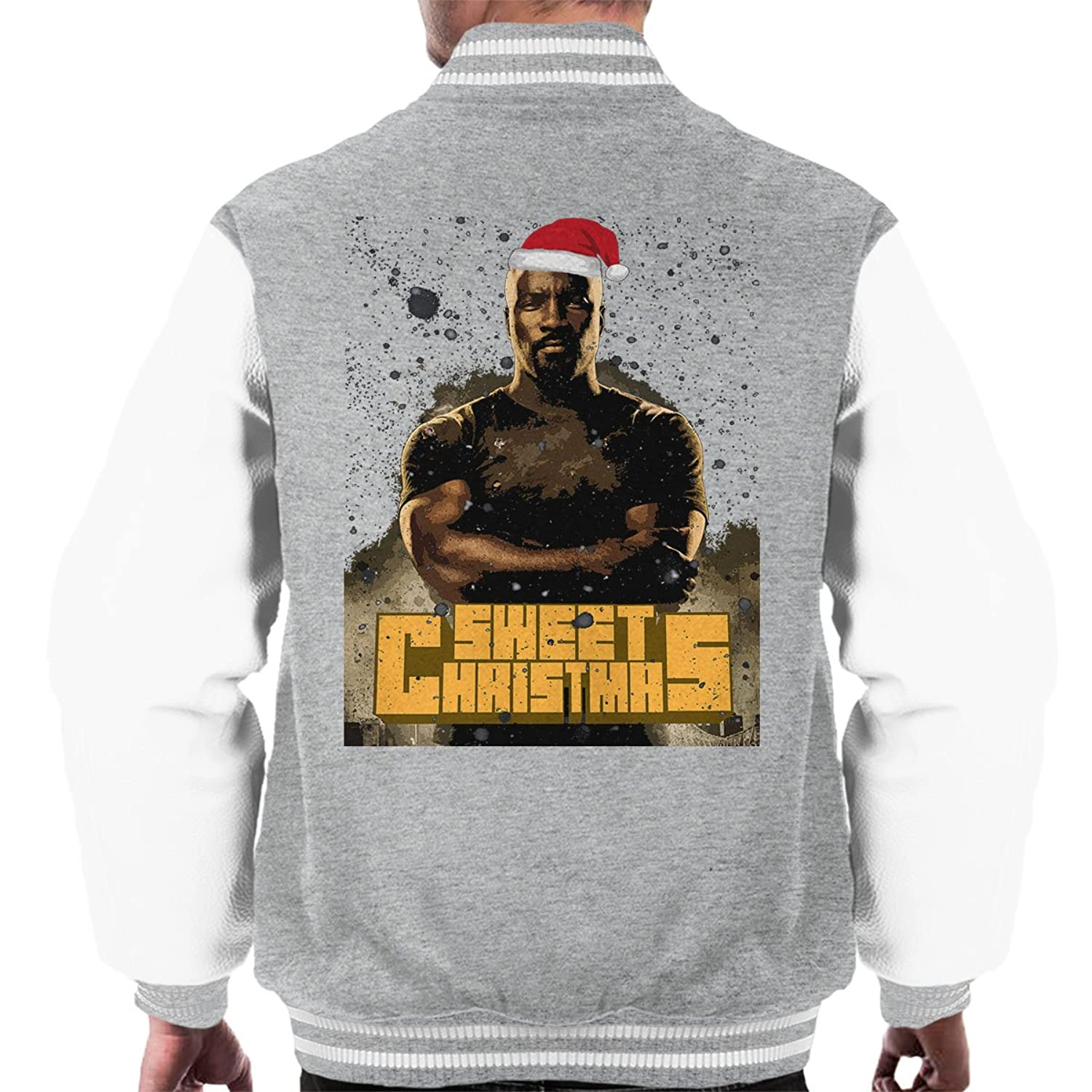 Luke Cage Sweet Christmas Snow Marvel Defenders Men's Varsity Jacket