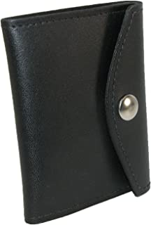 product image for Boston Leather Leather Book Style Badge Case with Snap Closure, Black