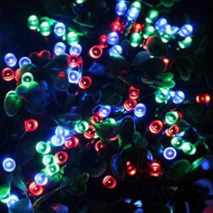 Rgb Led Christmas Lights.Wyzworks Led Solar String Lights 11m 60 Multi Rgb Led Christmas Xmas Wedding Tree Party Garden Waterproof Light