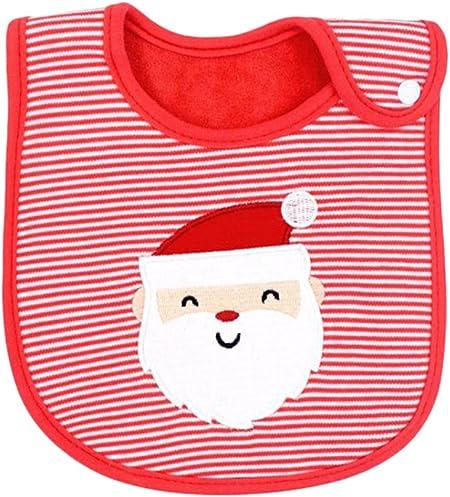 lumanuby 1 pcs Navidad regalo baberos patrón capa Infant Toddler bebé bebé toalla de saliva algodón impermeable baberos, algodón, E, 19*32cm: Amazon.es: Hogar