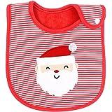 Cdet Toalla de Saliva Impermeable bebé Estilo de Navidad Babero,Estilo E