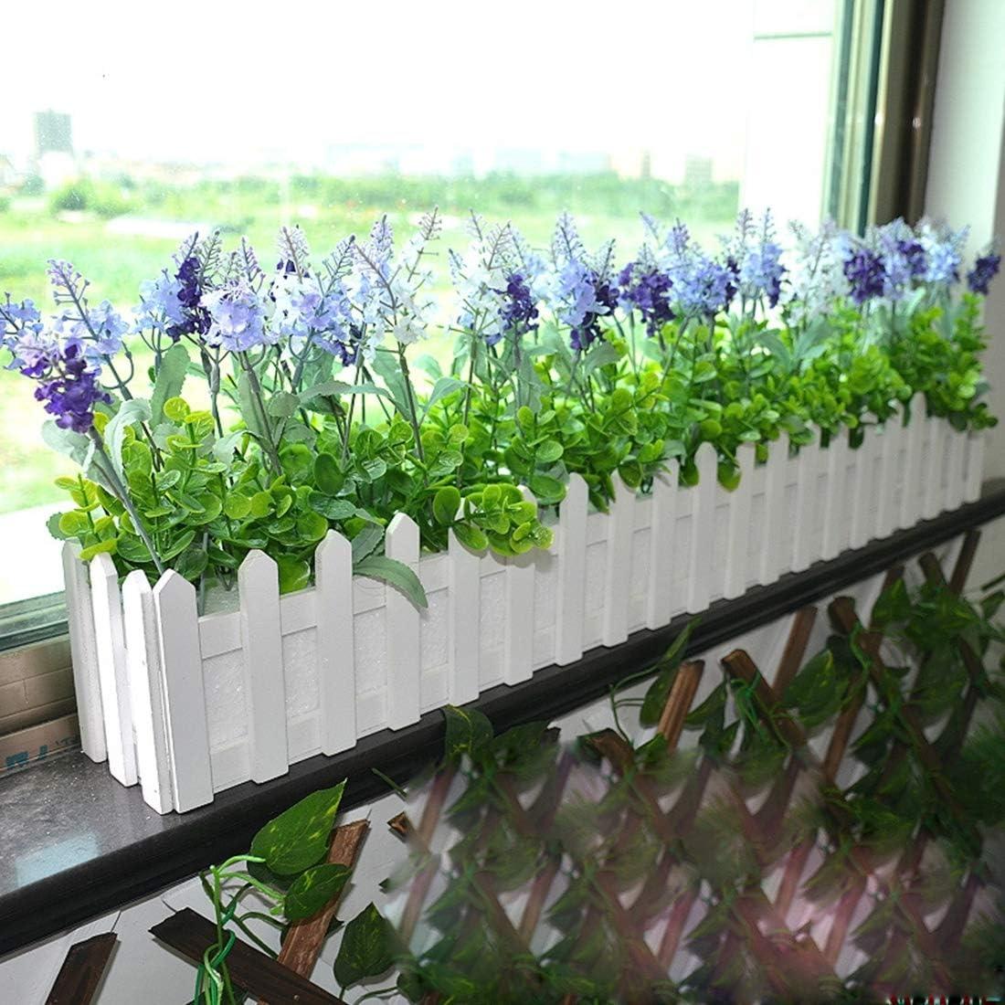 LIJIAN サイズ:80 cm x 9 cm x 11 cm、木の花プランターの塀の収納ホルダーの鍋