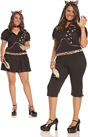 62d5a6bcb22 Image Unavailable. Image not available for. Color  Feisty Feline Costume - Plus  Size ...