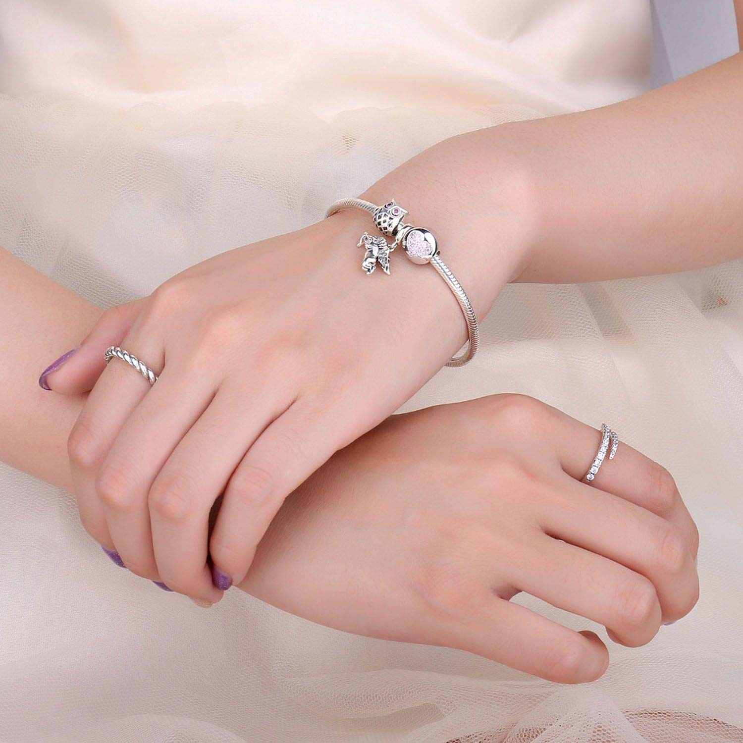 925 Sterling Silver God of Charm Beads Fit Bracelets for Women As Beautiful Gifts,D2