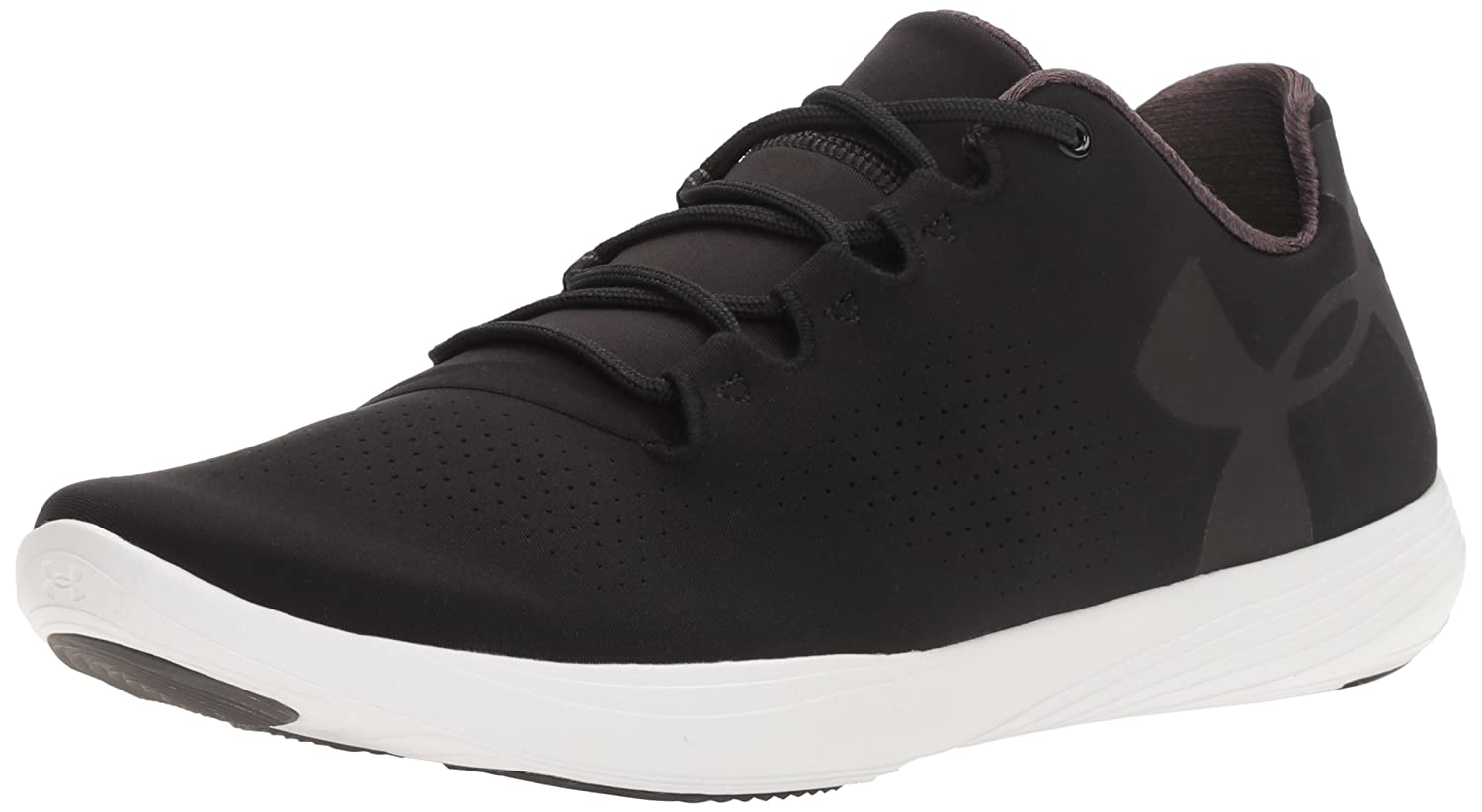 Under Armour Women's Street Precision Low Sneaker B0182YJIVM 9.5 M US|Black (001)/White