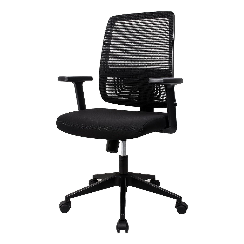 Sedia ergonomica Sedia di lavoro Sedia girevole da ufficio e da casa della classe di lusso, schienale alto ergonomico, Poliestere e Nailon, L'Altezza di schiena può essere regolata (Nero) Sente Z1