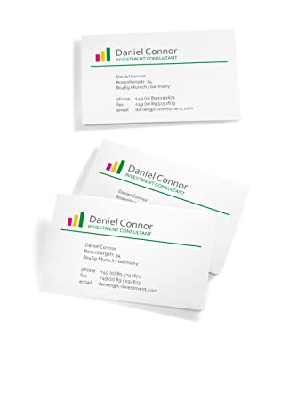 Sigel 225g 85 x 55mm a4 3c business cards bright white 100 pieces sigel 225g 85 x 55mm a4 3c business cards bright white 100 pieces amazon office products reheart Image collections