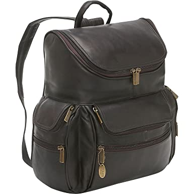 14dd408cadfa Amazon.com: David King Leather Large Computer Backpack in Cafe: Clothing