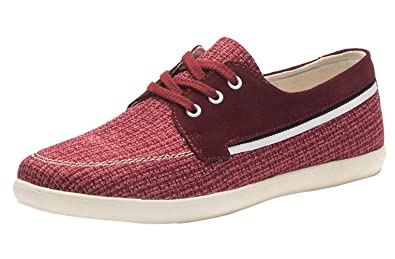 eb74f3ecad Image Unavailable. Image not available for. Colour: Ubasics Women's Checker  Lace Up Footwear Red 41 EU