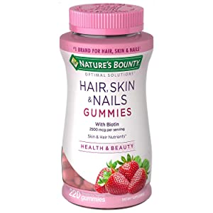 Natures Bounty Optimal Solutions Hair, Skin and Nails Gummies (220 Count)