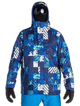 Quiksilver misión 10 K AOP – Chaqueta de snowboard para hombre, color Azul, tamaño