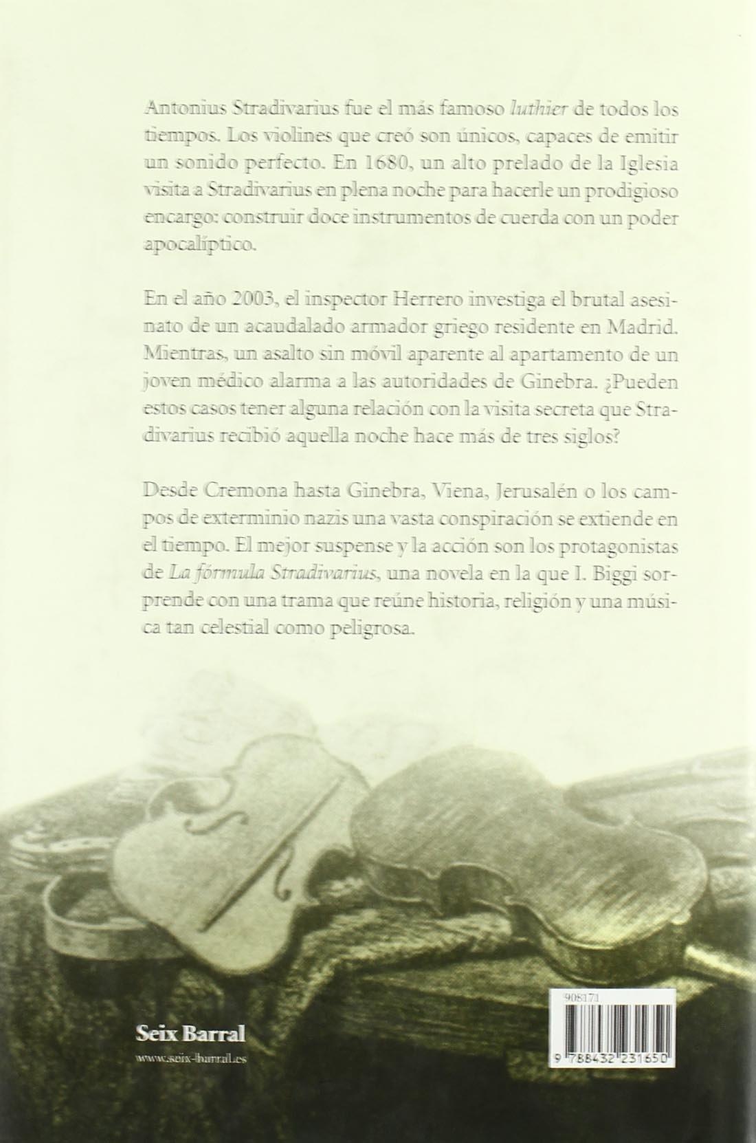 La Formula Stradivarius (Spanish Edition): I. Biggi ...