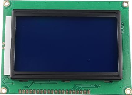 HALJIA 5 V módulo de Pantalla LCD 12864 128 x 64 Puntos Gráfico Matriz de Personajes Carta retroiluminación Azul Compatible con Arduino fotocopiadoras máquinas de fax impresoras láser Impresora 3D: Amazon.es: Electrónica