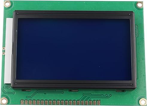 HALJIA 5 V módulo de Pantalla LCD 12864 128 x 64 Puntos Gráfico ...