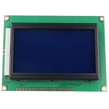 HALJIA 5 V módulo de Pantalla LCD 12864 128 x 64 Puntos ...