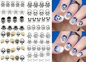 4 sheets Halloween Nail Art Water Transfer Stickers Nail Sticker set Nail Sticker Tattoo - FashionDancing