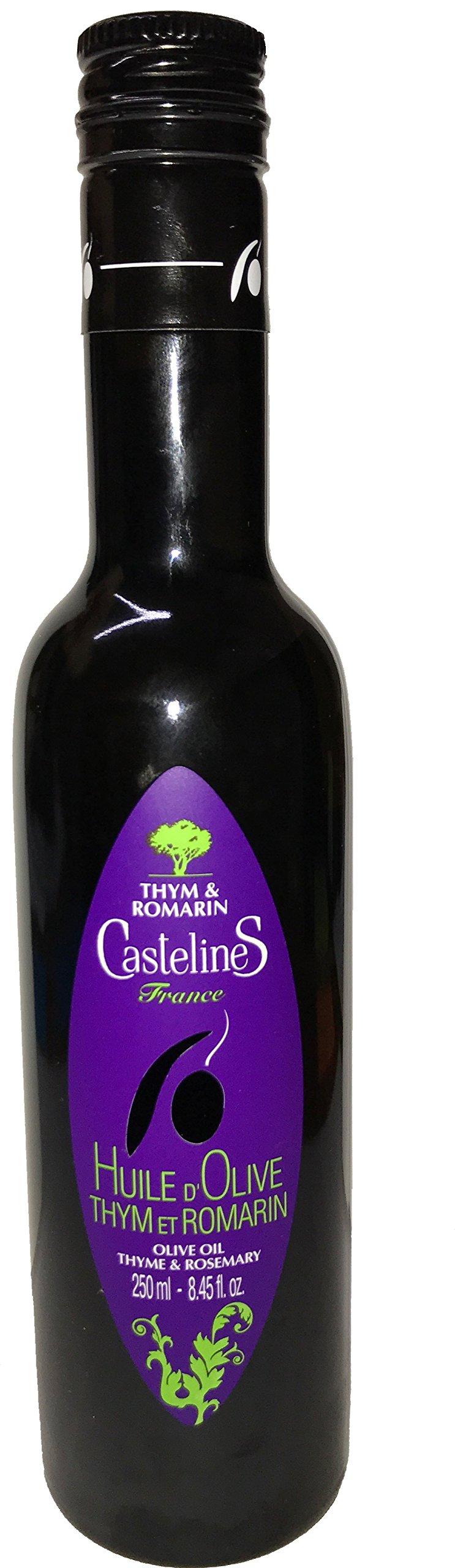 Moulin CastelaS Castelines Thyme & Rosemary Olive Oil 8.45 fl oz.