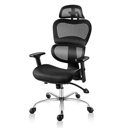 Amazon Com Smugdesk Ergonomic Office Chair High Back Mesh Chairs