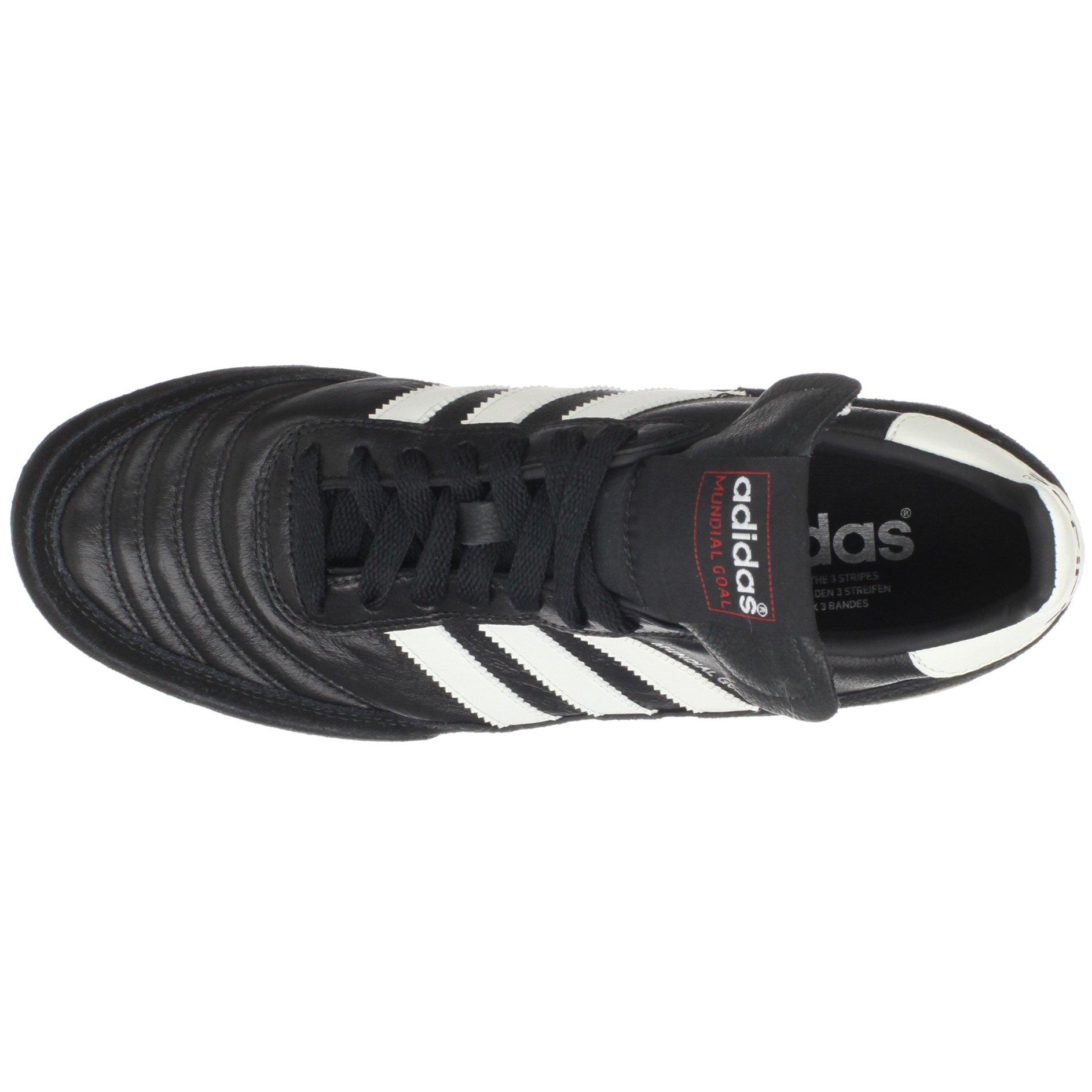 adidas Men's Mundial Goal Soccer Cleat, Black/White/White, 5 M US by adidas (Image #7)