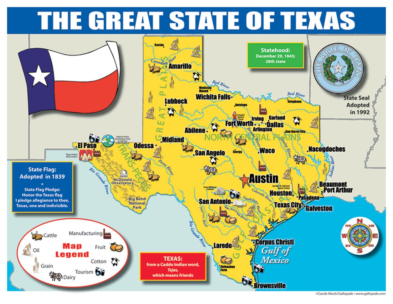 Texas Map For Kids