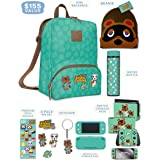 Controller Gear Official Nintendo Animal Crossing: New Horizons Merch - Mini Backpack, Switch + Switch Lite Skins, Screen Pro