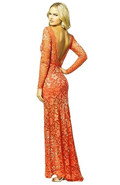 ASOS - John Zack - Vestido - Estuche - Floral - para mujer naranja