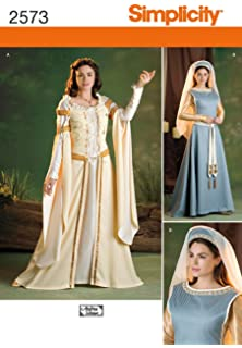 Simplicity Andrea Schewe Pattern 2573 Misses Medieval Costume Patterns Sizes 8-10-12-