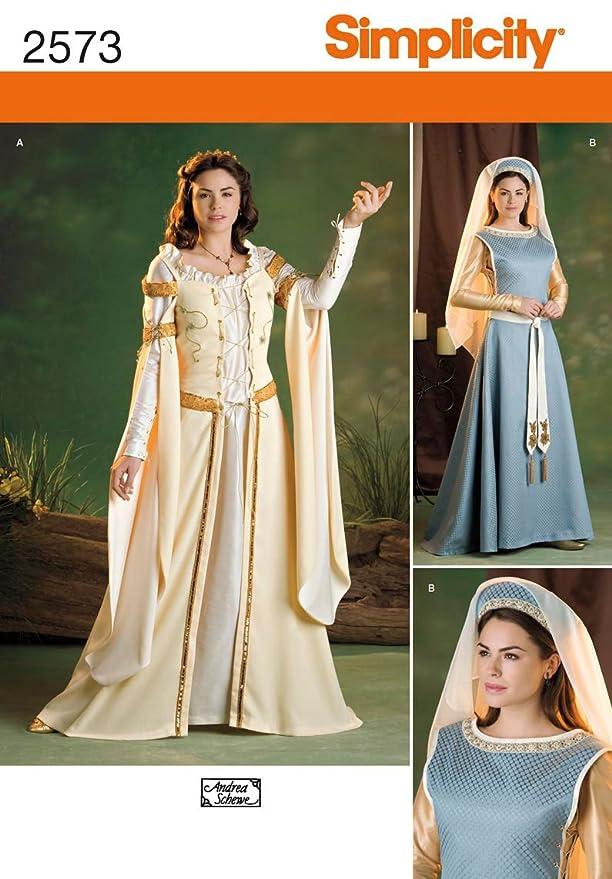 Simplicity K5 Schnittmuster 8-10- 12-14-16 2573 für Kostüme: Amazon ...