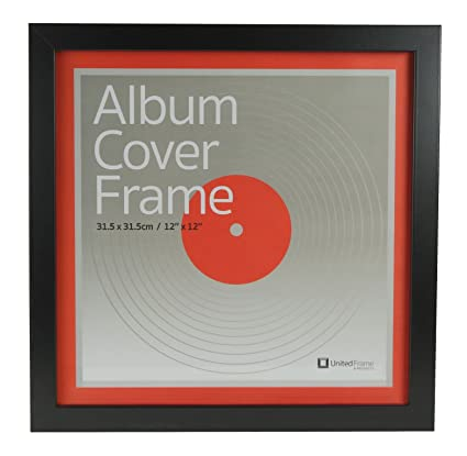 Best Record Album Cover Frame - Universal 12 5X12 5 LP Vinyl Cover Display   Quality European Craftsmanship with Eco-sourced Wood & Protective Glass